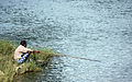 Angling - old man fishing, Batticaloa.JPG