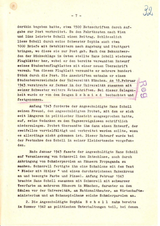 Briefe Von Christoph Probst : Seite anklageschrift gegen hans scholl sophie und