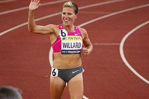 Anna Willard - Anna Willard after winning the 1500 m at the 2009 London Grand Prix