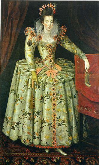 Anne Vavasour - Portrait of Anne Vavasour, attributed to John de Critz, c.1605