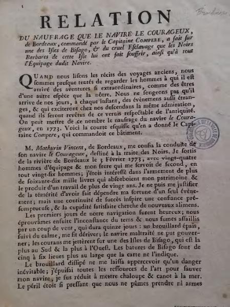 Fichier:Anonyme - Relation du naufrage que le navire le Courageux, 1774.djvu