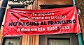 Anti franelero banner, colonia Roma,Mexico City.jpg