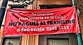 Anti franelero banner, colonia Roma,Mexico City.jpg