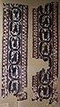 Antinoè (attr.), epoca bizantina, fascia con racemi e animali, lino e lana.JPG