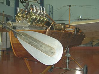 Antoinette (manufacturer) - Detail of Antoinette VII aircraft, showing Antoinette V8 engine