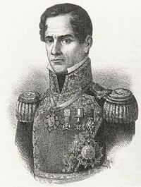 Santa Anna in high-necked uniform