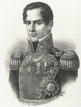 General Antonio Lopez de Santa Anna led Mexican troops into Texas in 1836. Antonio Lopez de Santa Anna 1852.jpg