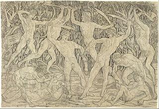 Combat d'hommes nus
