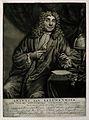 Antonius van Leeuwenhoek. Mezzotint by J. Verkolje, 1686, af Wellcome V0003466.jpg