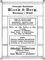 Anzeige Block & Berg, Warburger Kreiskalender 1921.png
