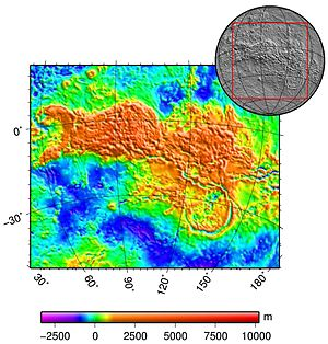 Geology of Venus - Aphrodite Terra topography