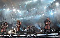 Apocalyptica on stage of Ruisrock.jpg