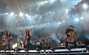 Apocalyptica on stage of Ruisrock.jpg