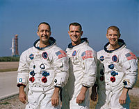 "(V-H) James Alton McDivitt, David Randolph Scott, Russell ""Rusty"" Schweickart"