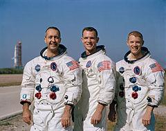 Posádka Apolla 9 (zleva: McDivitt, Scott a Schweickart)