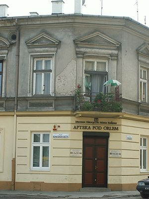 "Podgórze - Tadeusz Pankiewicz's ""Under the Eagle"" pharmacy at the heart of Kraków Ghetto in World War II"