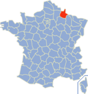 Communes of the Ardennes department - Image: Ardennes Position