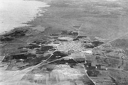 Aerial photo of Isdud, 1935