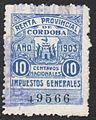 Argentina Cordoba 1903 revenue F2B.jpg