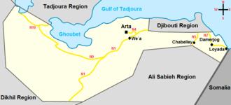 Arta Region - Map of the Arta Region.