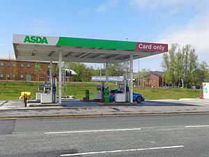 Asda - An unmanned Asda petrol station in Middleton, Leeds.
