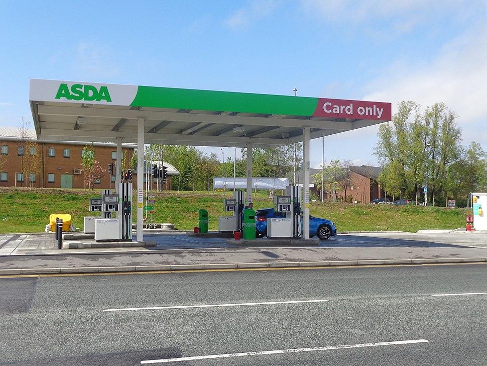 Asda self service petrol station, Middleton, Leeds (3rd May 2015)