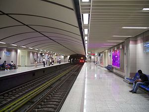 Panormou station of Athens Metro system.