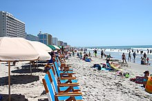 Atlantic Ocean shoreline in Myrtle Beach, South Carolina.jpg