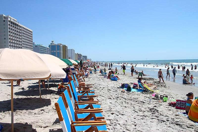 File:Atlantic Ocean shoreline in Myrtle Beach, South Carolina.jpg