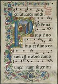 Attavante degli Attavanti - Leaf from a Gradual- Initial P with the Nativity - 2003.173 - Cleveland Museum of Art.tif