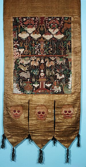 Attributes of Pehar and his four companions in a Wellcome L0015325.jpg