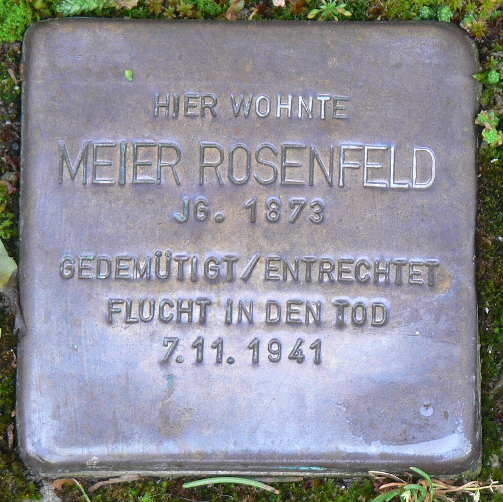 Aub - Stolperstein Rosenfeld, Meier.jpg