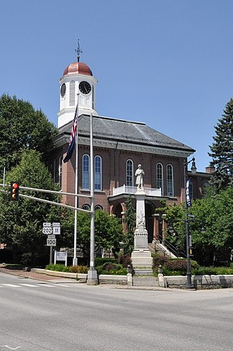 National Register of Historic Places listings in Androscoggin County, Maine - Image: Auburn ME Androscoggin County Courthouse
