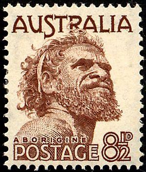 Gwoya Tjungurrayi - 1950 stamp
