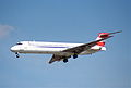 Austrian Airlines MD-87; OE-LML@LHR;04.04.1997 (5491907758).jpg