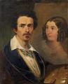 Auto-retrato com a esposa - António Manuel da Fonseca.png