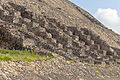 Auxiliary steps on Piramide del Sol, Teotihuacan, seen from side.jpg