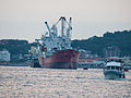 Avatar Shipped in Kaohsiung Harbour with Cruise Boat 20140508a.jpg