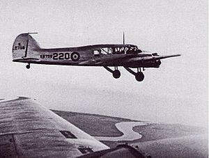AI Mk. IV radar - Avro Anson K8758, as seen from K6260. K6260 carried the radar unit while K8758 acted as a target.