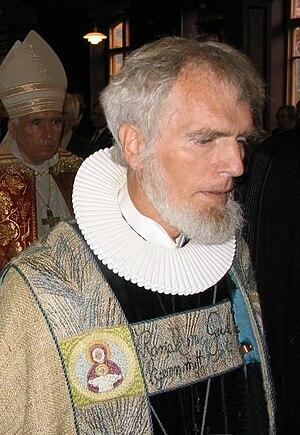 """Børre Knudsen - Børre Knudsen as bishop of the Deanery of Strandebarm, the """"Church of Norway in Exile"""""""
