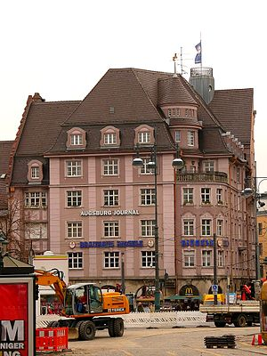 Josef Priller - The Riegele house in Augsburg, built as a beer hall in 1911.