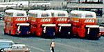 BEA Routemasters, Heathrow Airport, 13 August 1972.jpg
