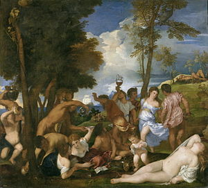 The Bacchanal of the Andrians - Image: Bacanal de los andrios