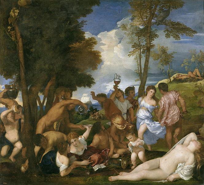 Tiziano, la Bacanal de los andrios.