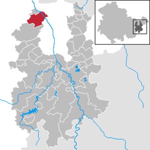 Bad Köstritz - Image: Bad Köstritz in GRZ