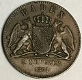 Baden commemorative friedenskreuzer 1871 obverse type 2.jpg