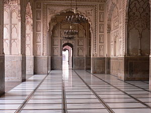 English: Mosque at Lahore