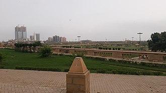 Bagh Ibne Qasim - A panoramic view of Bagh Ibne Qasim.
