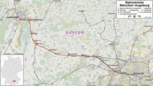 Bahnstrecke Münchenaugsburg Wikipedia