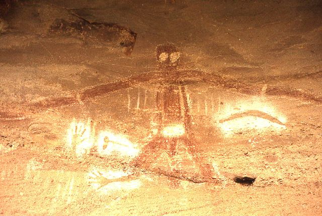 Aboriginal Cave Paintings Blue Mountains